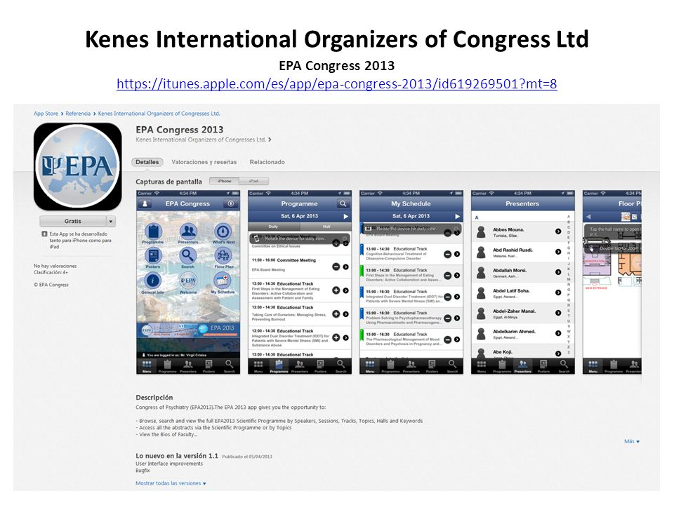 Kenes International Organizers of Congress Ltd EPA Congress 2013 https://itunes.apple.com/es/app/epa-congress-2013/id619269501?mt=8 https://itunes.apple.com/es/app/epa-congress-2013/id619269501?mt=8