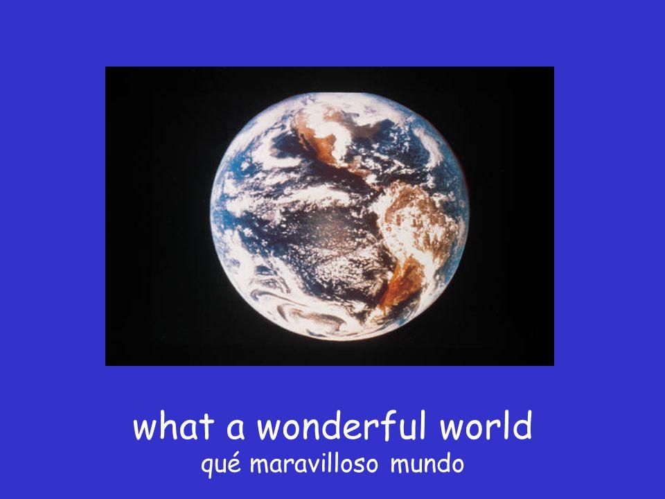 what a wonderful world qué maravilloso mundo