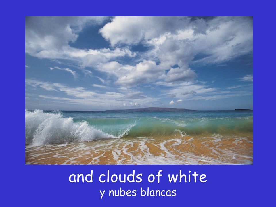 I see skies of blue Vi cielos azules