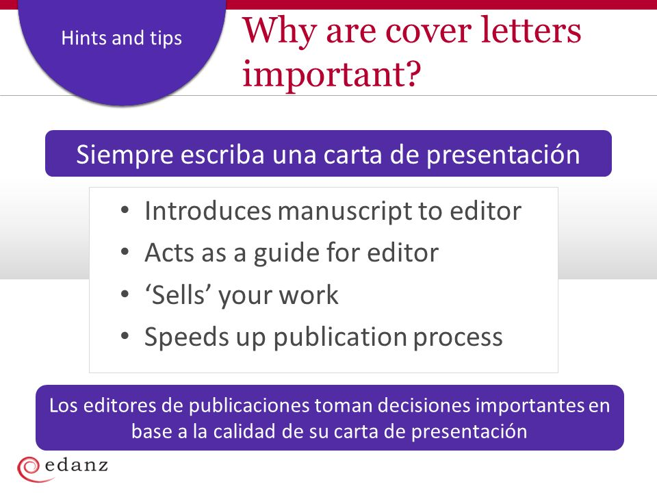 Coverage and Staffing Plan Hints and tips Why are cover letters important.