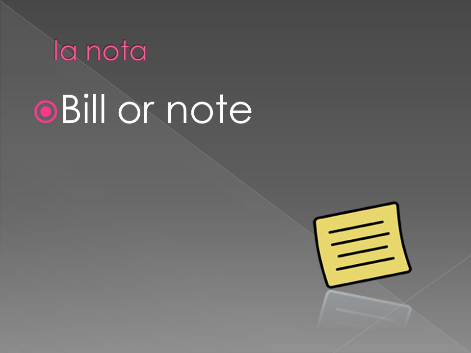 Bill or note