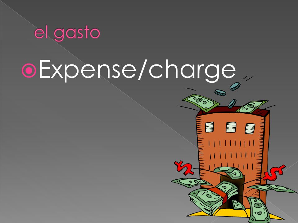 Expense/charge