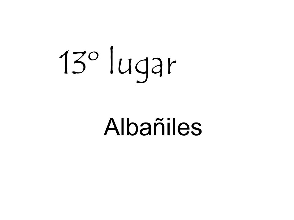 13º lugar Albañiles