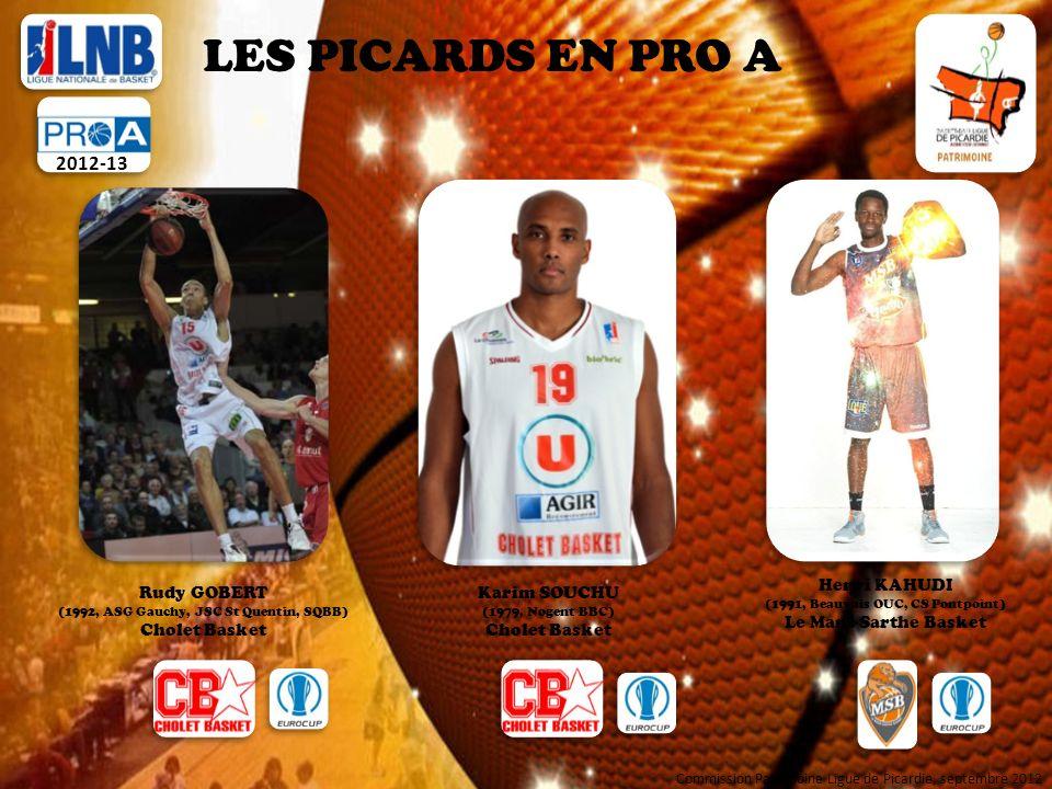 LES PICARDS EN NM 1 2012-13 Kris MORLENDE (1979, Nogent BBC, GAS Chantilly) ADA Blois Commission Patrimoine Ligue de Picardie, septembre 2012