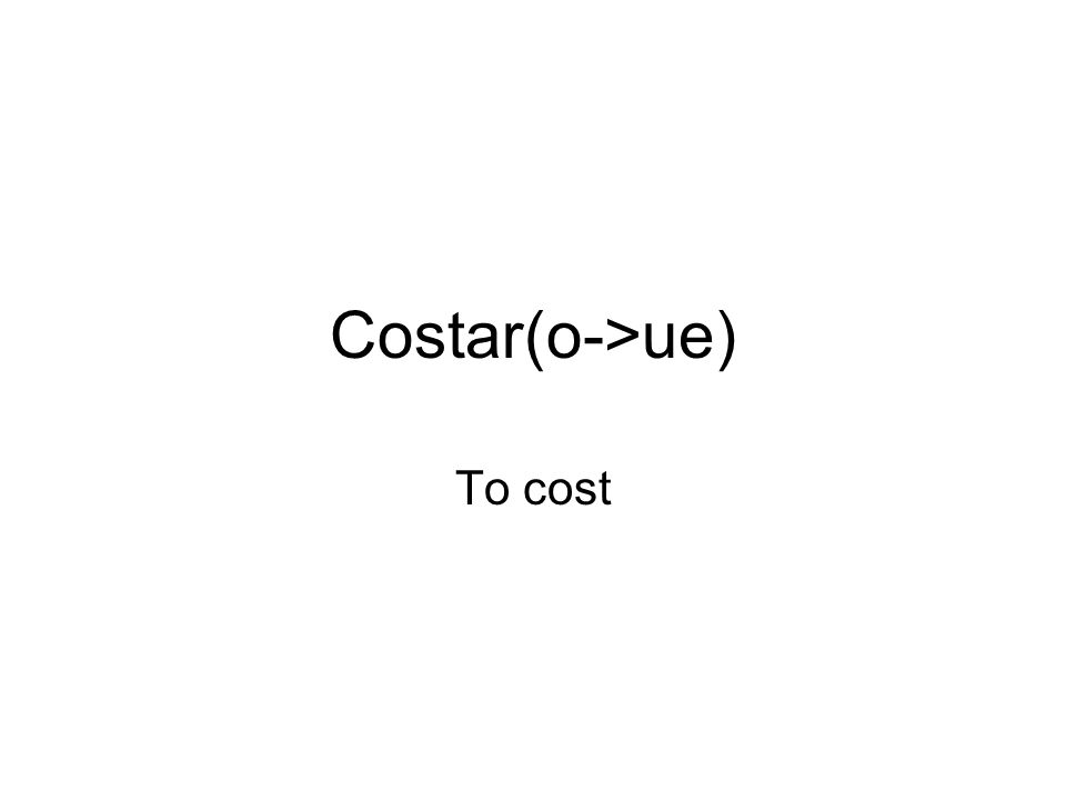To cost