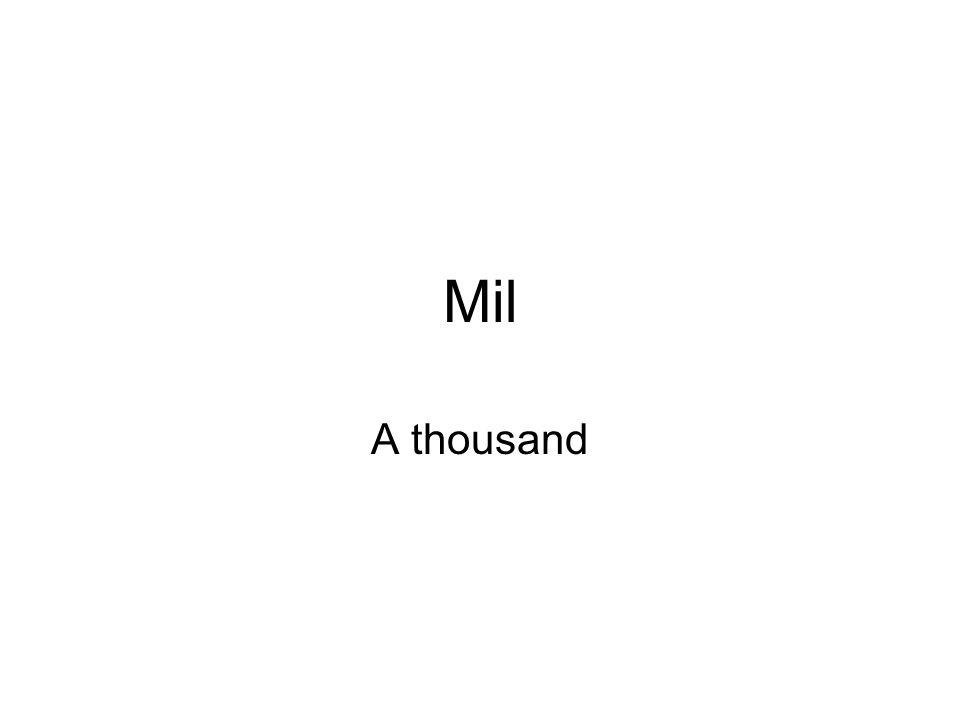 A thousand