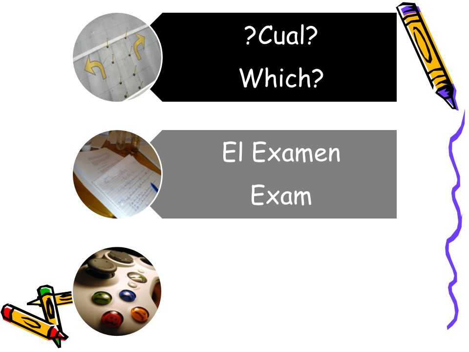 ?Cual? Which? El Examen Exam Favorito/a Favorite