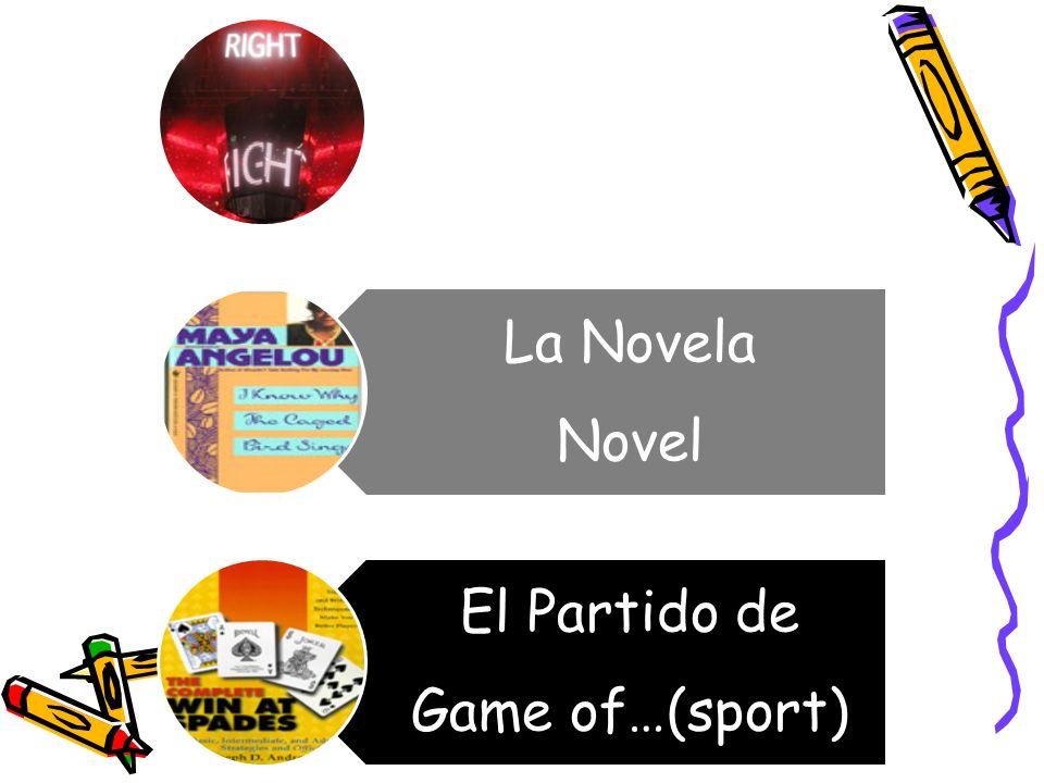 ?No? Isnt it?/right? La Novela Novel El Partido de Game of…(sport)
