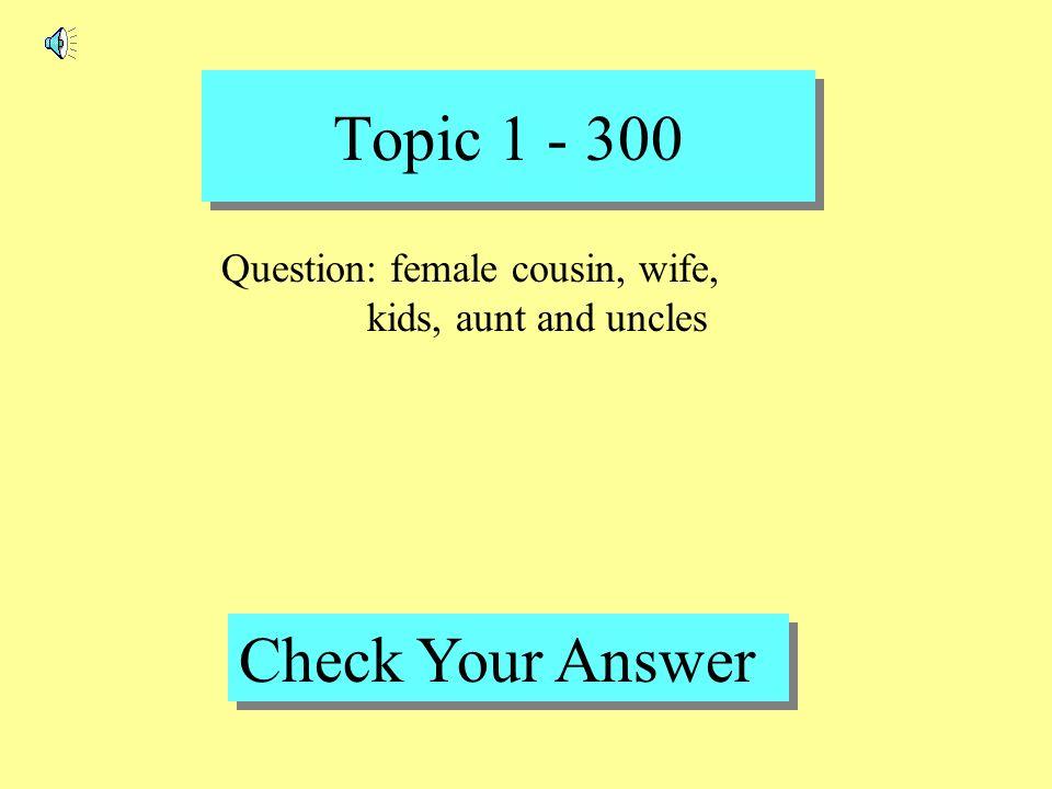 Topic 1 - 200 Back to Game Board Answer : simpática, cariñosa, travieso