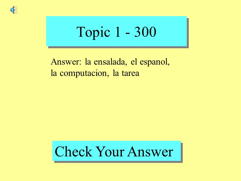 Topic 1 - 200 Back to Game Board Question: la natacion
