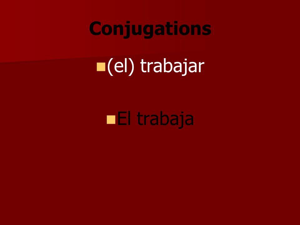 Conjugations (el) trabajar El trabaja