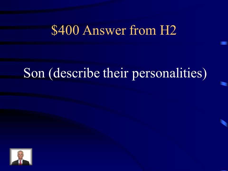 $400 Question from H2 ¿Cómo _____ tus amigos ¿Generosos o egoístas