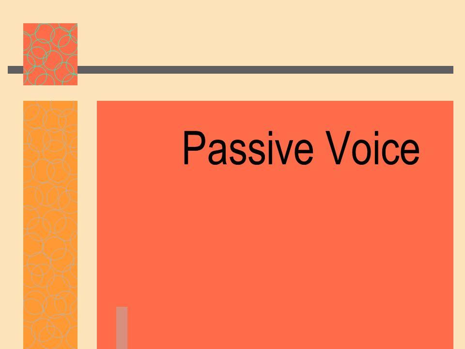 Passive Voice