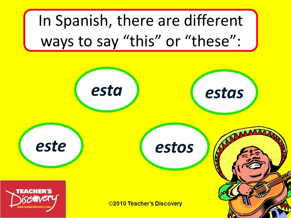 By Jami Sipe ©2010 Teachers Discovery Demonstratives: Adjectives and Pronouns