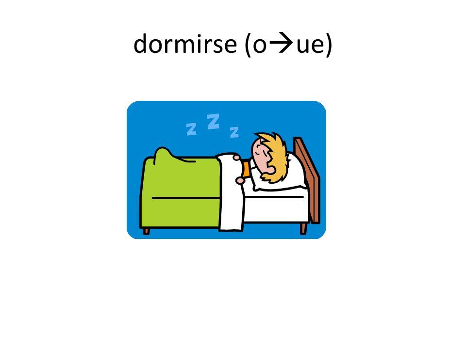 dormirse (o ue)