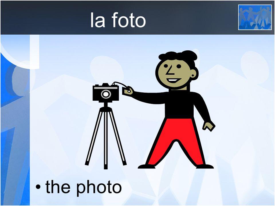 la foto the photo