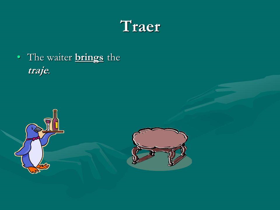 TRAER – to bring stem – traj-