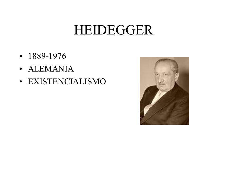 HEIDEGGER 1889-1976 ALEMANIA EXISTENCIALISMO