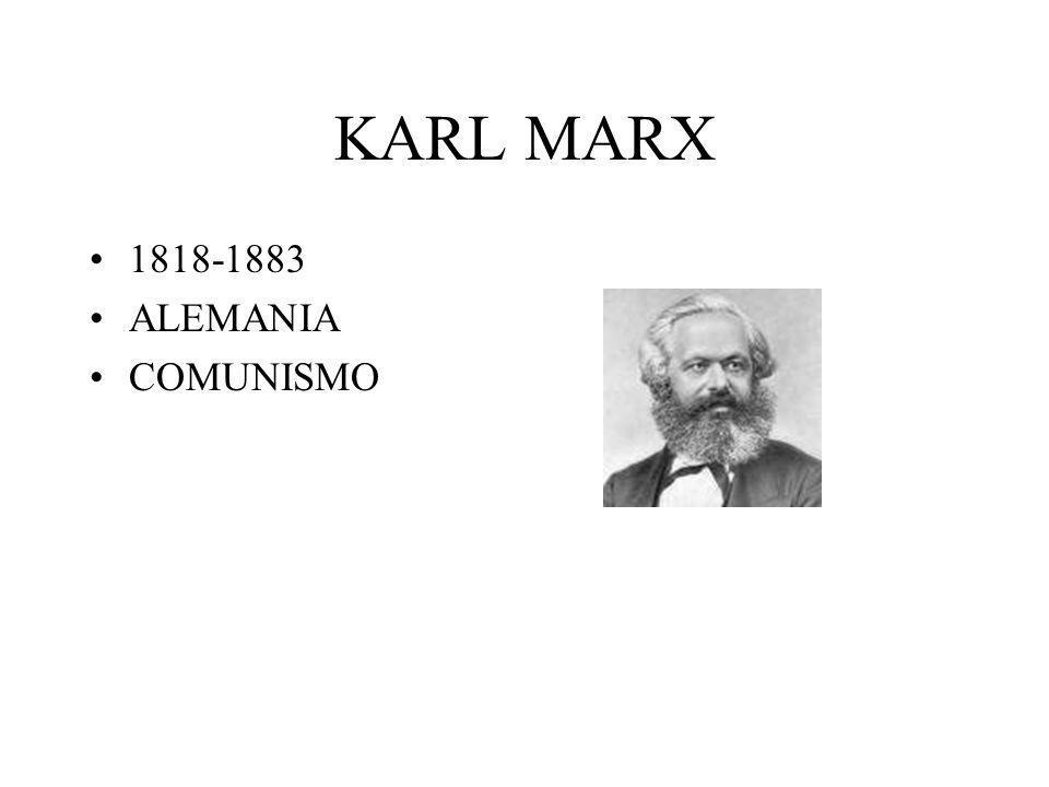 KARL MARX 1818-1883 ALEMANIA COMUNISMO