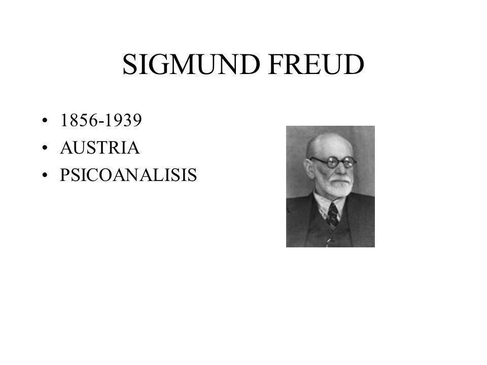 SIGMUND FREUD 1856-1939 AUSTRIA PSICOANALISIS