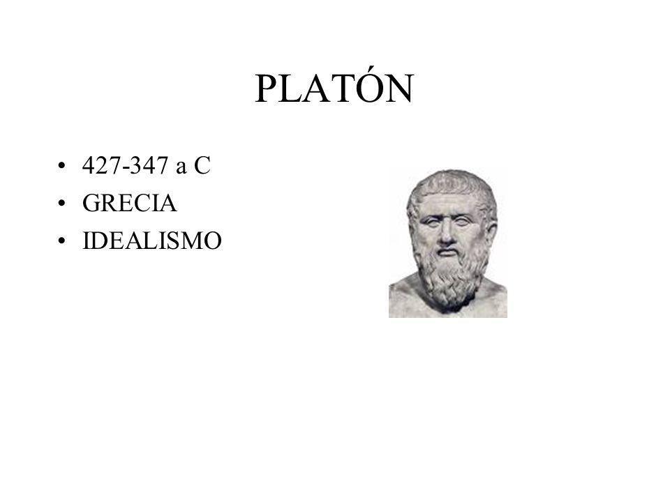 PLATÓN 427-347 a C GRECIA IDEALISMO