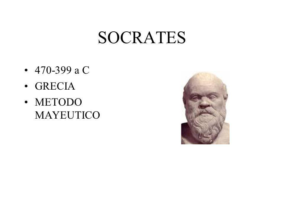 SOCRATES 470-399 a C GRECIA METODO MAYEUTICO