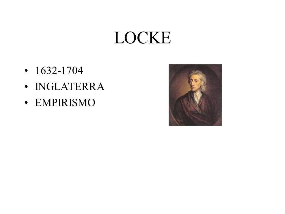 LOCKE 1632-1704 INGLATERRA EMPIRISMO