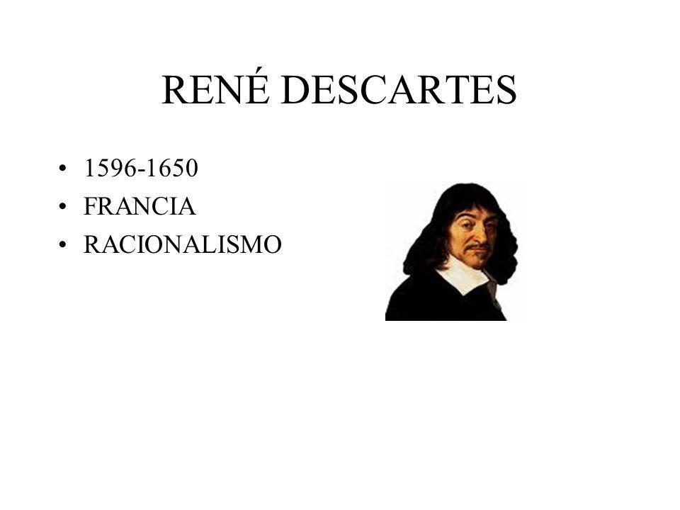 RENÉ DESCARTES 1596-1650 FRANCIA RACIONALISMO