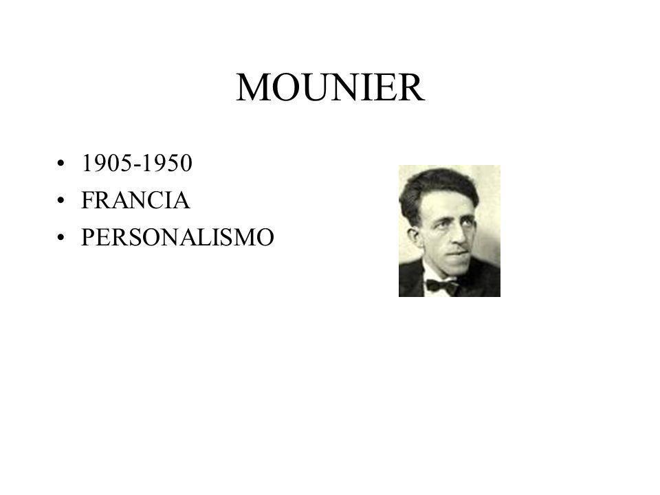 MOUNIER 1905-1950 FRANCIA PERSONALISMO