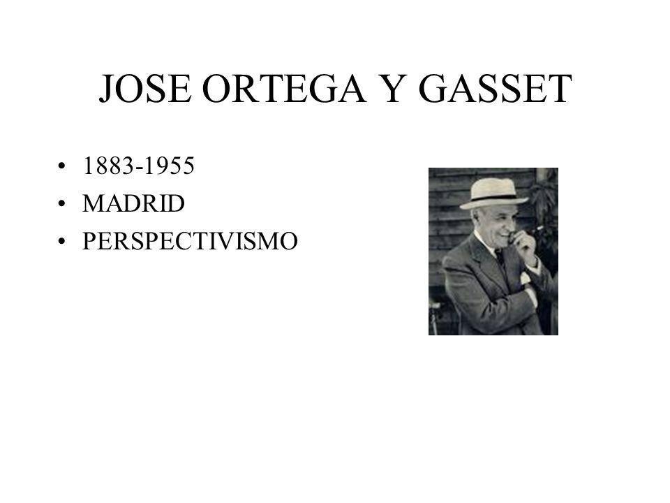 JOSE ORTEGA Y GASSET 1883-1955 MADRID PERSPECTIVISMO