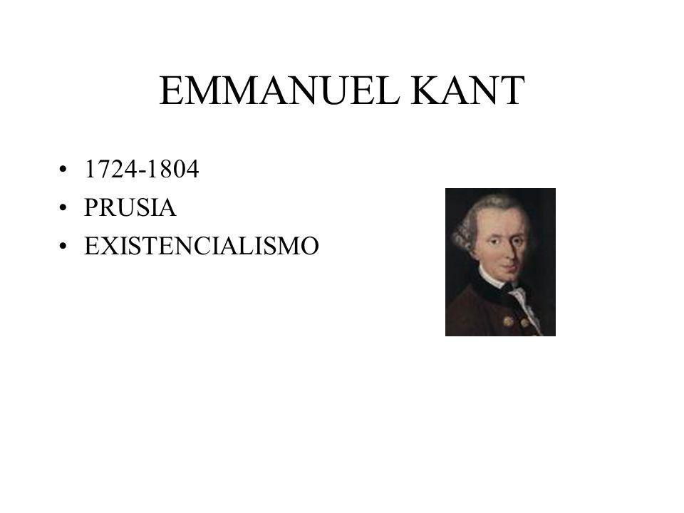 EMMANUEL KANT 1724-1804 PRUSIA EXISTENCIALISMO