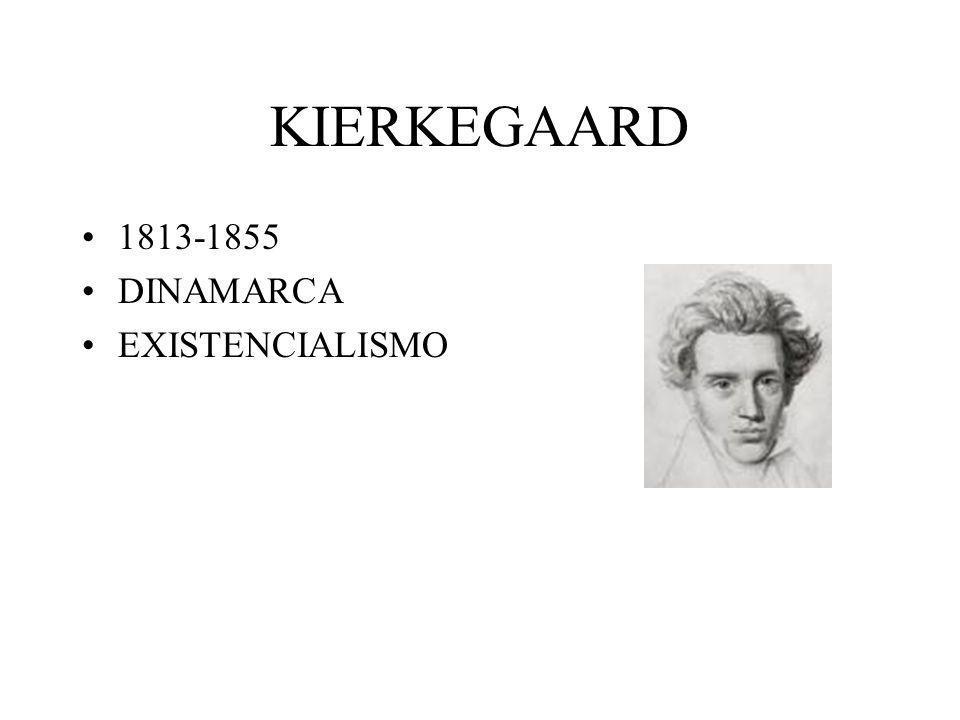 KIERKEGAARD 1813-1855 DINAMARCA EXISTENCIALISMO