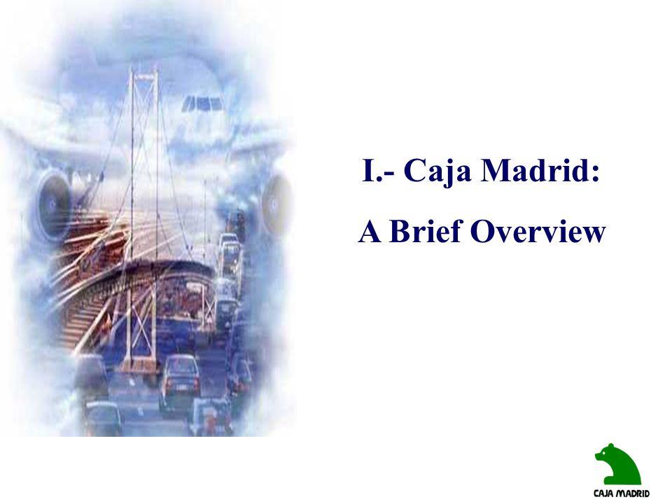 I.- Caja Madrid: A Brief Overview