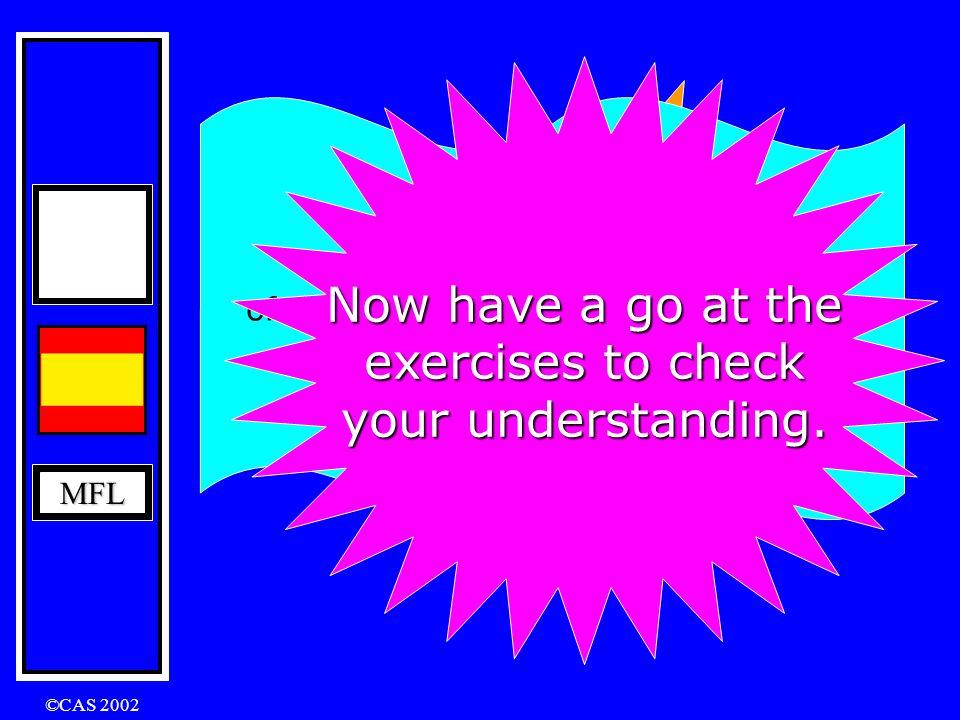 MFL ©CAS 2002 Irregular verbs in the Conditional Tense caber decir haber hacer poder poner querer saber salir tener valer venir cabría, cabrías, ….