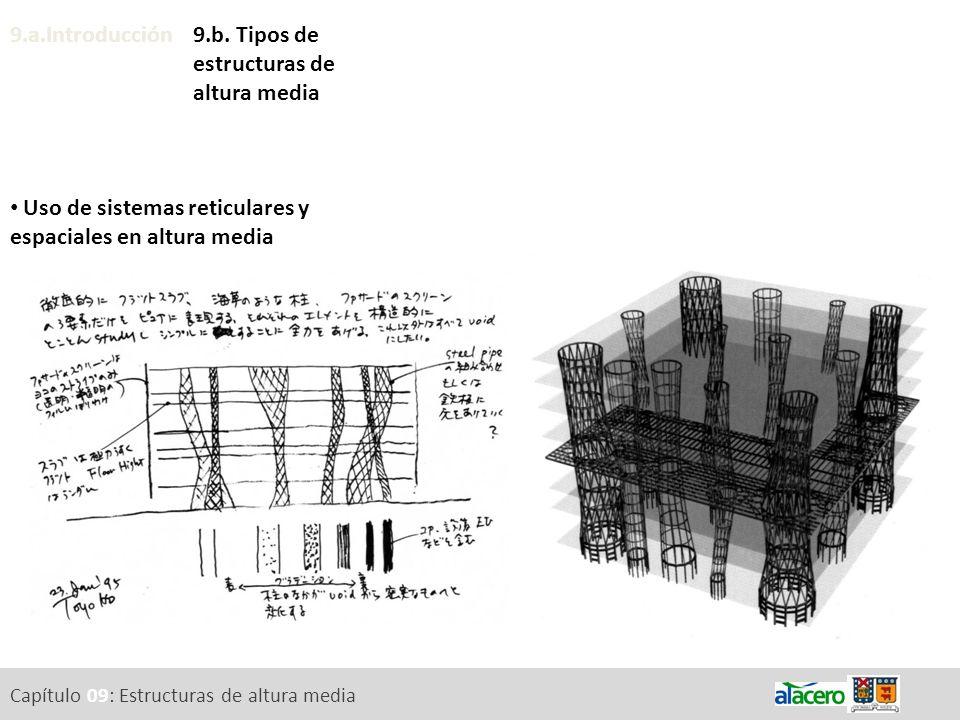9.a.Introducción Uso de sistemas reticulares y espaciales en altura media 9.b. Tipos de estructuras de altura media Capítulo 09: Estructuras de altura