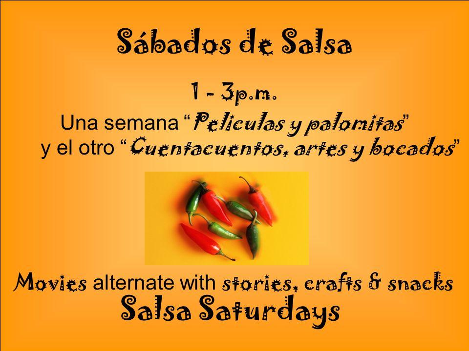 Programas de la Biblioteca Con un sabor Latino En la Primavera de 2011 Salsa 2011 Spring Library Programs with a Latin flavor!