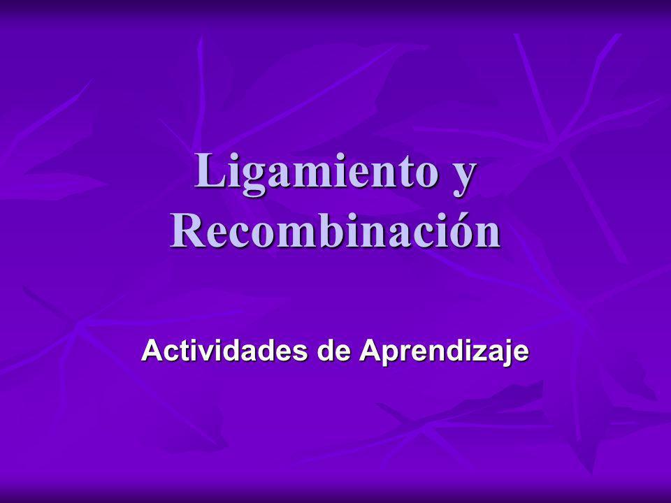 Ligamiento y Recombinación Actividades de Aprendizaje