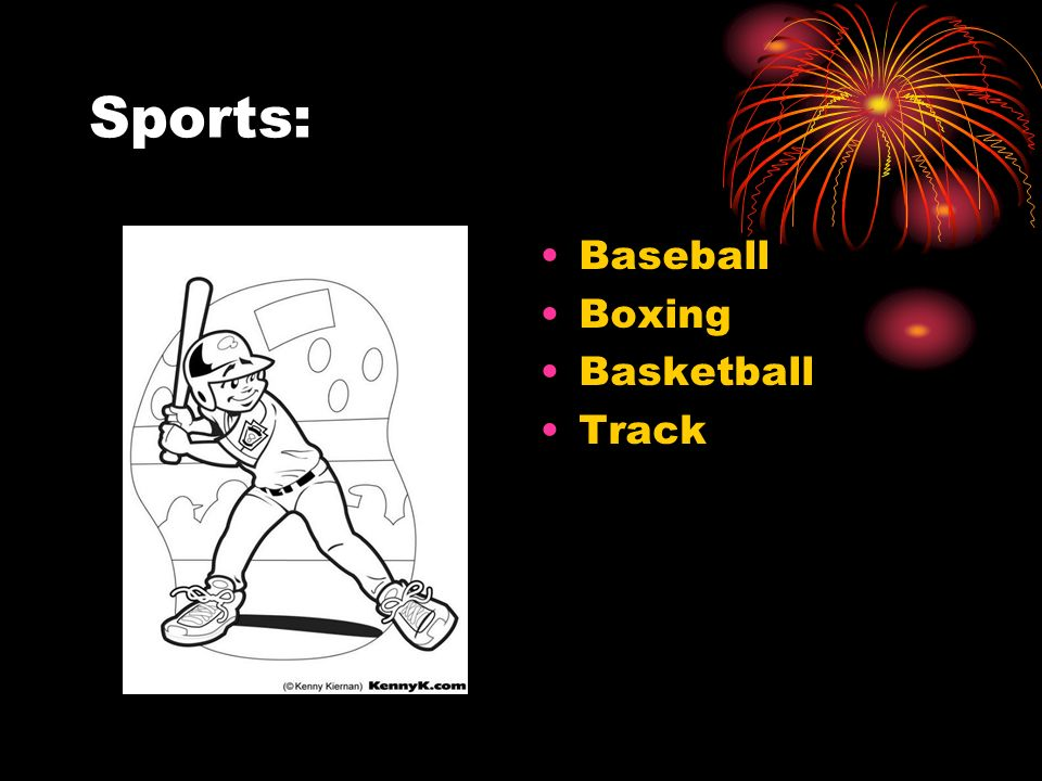 Sports: Baseball Boxing Basketball Track