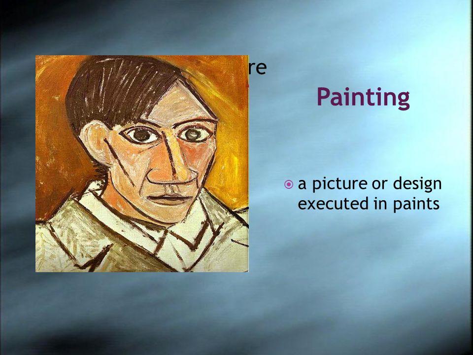 Pintura Una lona en que está pintado algo