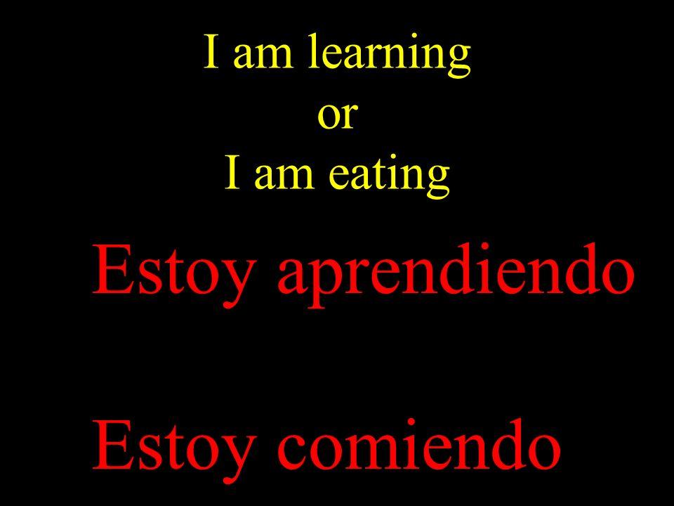 I am learning or I am eating Estoy aprendiendo Estoy comiendo
