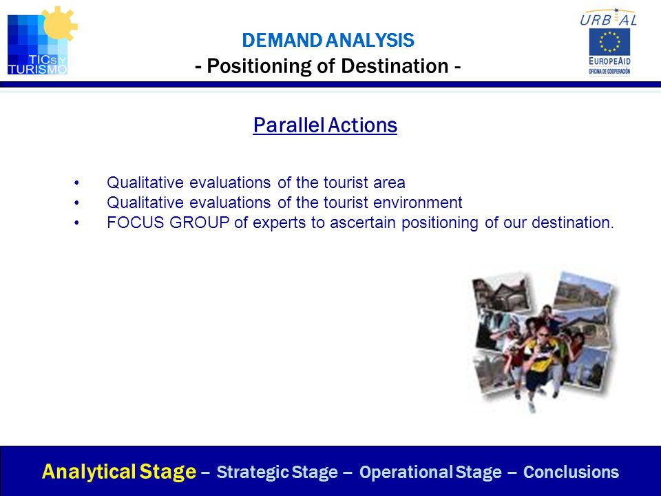 DEMAND ANALYSIS - Positioning of Destination - Parallel Actions Analytical Stage – Strategic Stage – Operational Stage – Conclusions Qualitative evalu