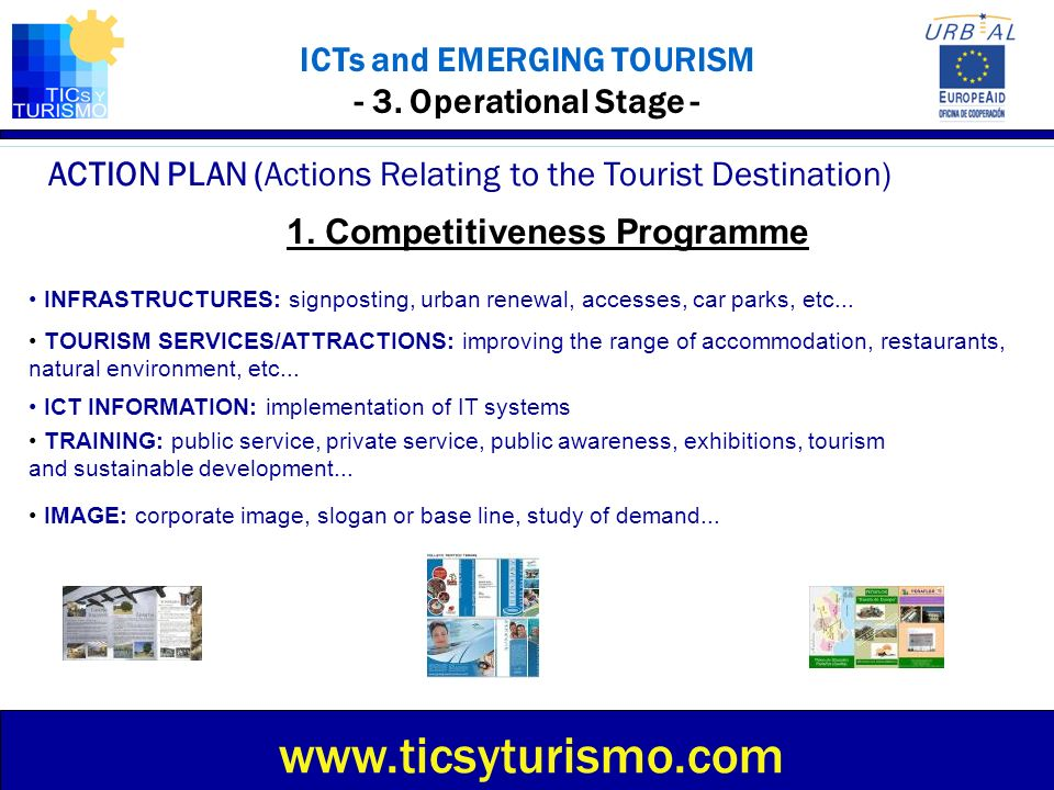 ICTs and EMERGING TOURISM - 3. Operational Stage - ACTION PLAN (Actions Relating to the Tourist Destination) www.ticsyturismo.com INFRASTRUCTURES: sig