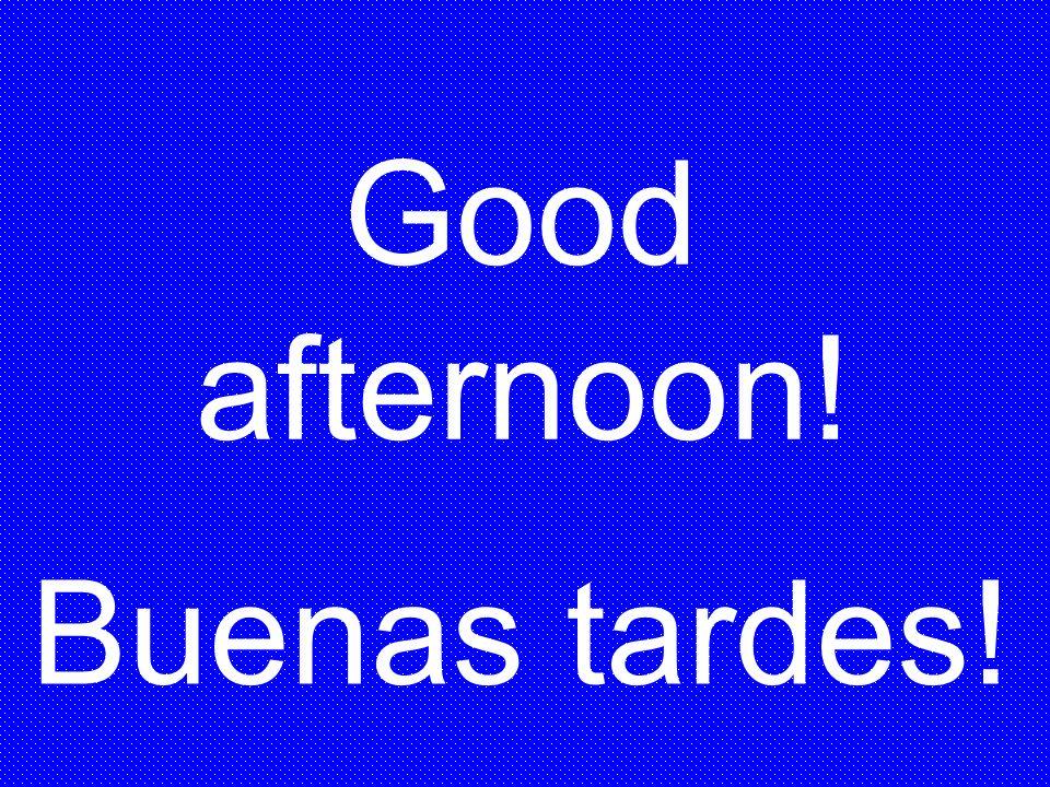 Buenas tardes! Good afternoon!