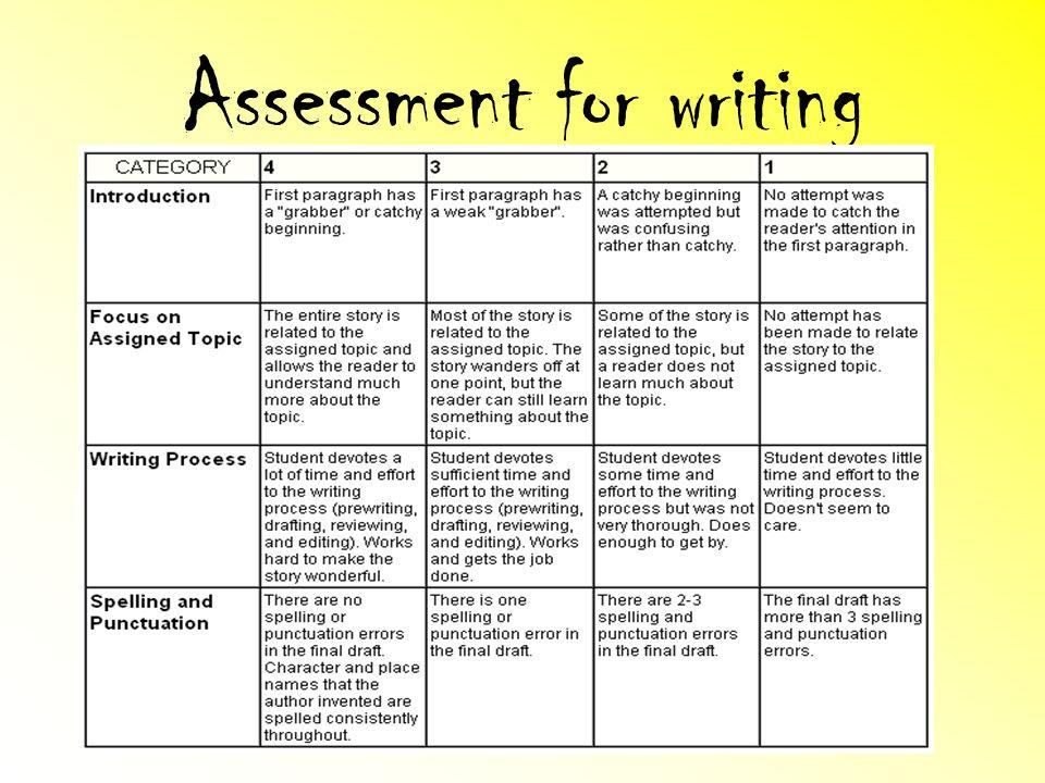 Assessment for writing