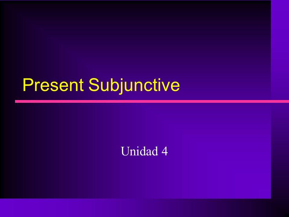 Present Subjunctive Unidad 4