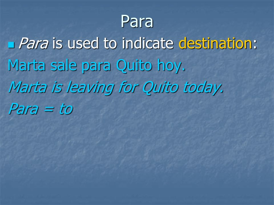 Para Para is used to indicate something abnormal: Para is used to indicate something abnormal: Para americano, Ud. habla el español muy bien. For an A