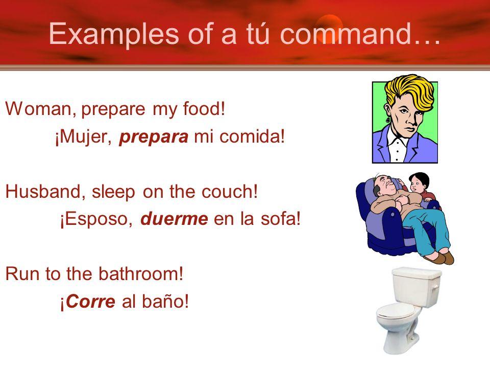 MANDATO Just conjugate to the EL / ELLA form of the verb.