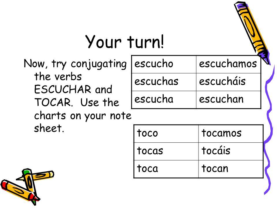 Translate the sentences.I speak English. Yo hablo inglés.