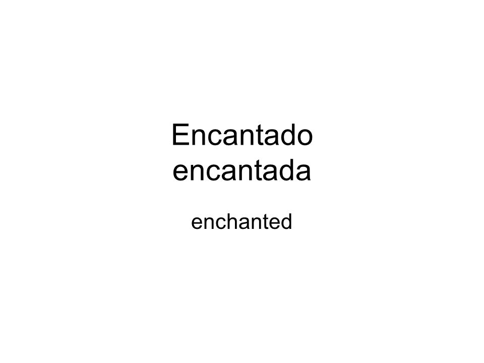 Encantado encantada enchanted
