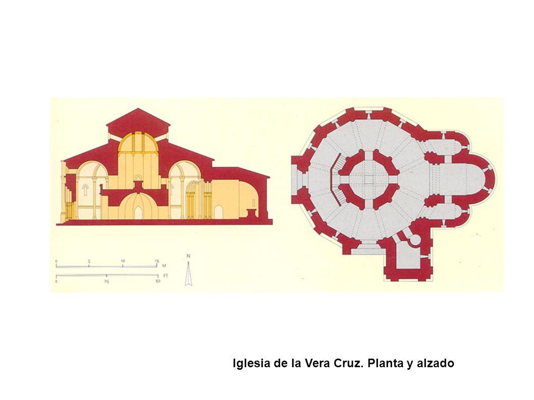 Iglesia de la Vera Cruz. Planta y alzado